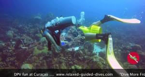 """DPV"" fun during a dive"