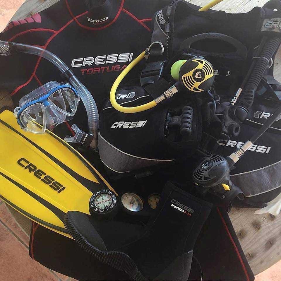 scuba diving rentals